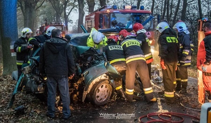 112 Polkowice Wypadek drogowy w Retkowie